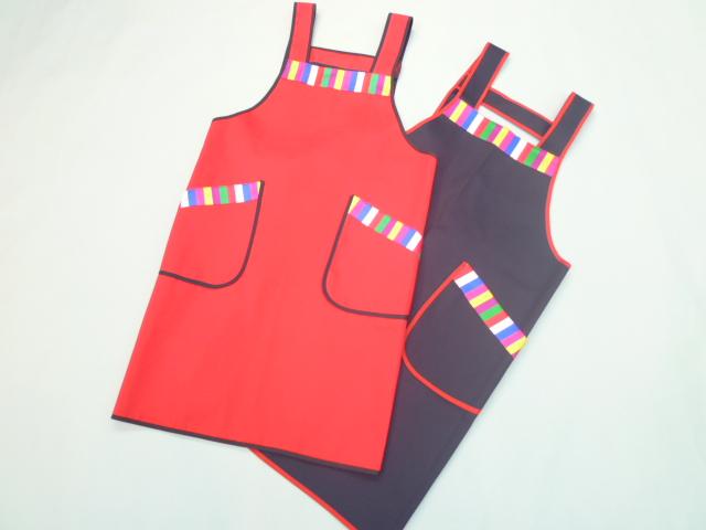 韓国七色(セットン)エプロン・赤